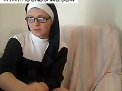 Nun, Busty blonde lesbian and shy girlfriend, Gotporn.com