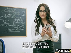 Anal, French, Student, Students gangbang teacher desk, Gotporn.com