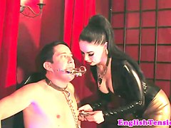 Latex, Slave, Big titted mistress has fun with slave, Gotporn.com