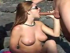 Teen, Threesome, Outdoor, German outdoor, Drtuber.com