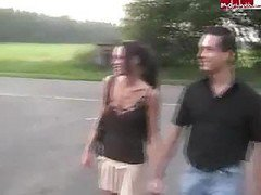 Outdoor, Outdoor interracial threesome, Drtuber.com