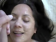 Facial, Big Cock, Husband watching his wife getting fucked, Hclips.com