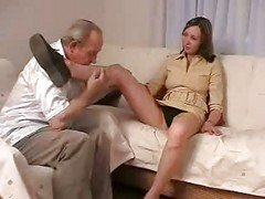 Teen, Old Man, Young girls humiliate old man, Xhamster.com