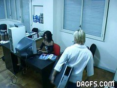 Latina, Office, Caught, Caught by daddy, Xhamster.com