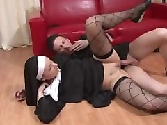 Nun, Ass, Fisting, Threesome in hotel at sex convention, Pornhub.com