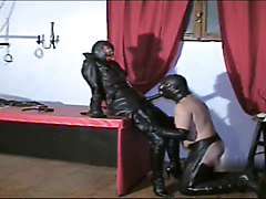 Leather, Strapon, Leather hood, Xhamster.com
