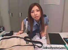 Asian, Blowjob, Office, Police woman fuck strapon, Drtuber.com