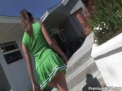 Cheerleader, Cheerleader blowjob, Drtuber.com
