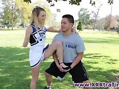 Teen, Cheerleader, Longhaired cheerleader with sexy boobs, Fapli.com