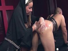 Nun, Strapon, Under the covers, Xhamster.com