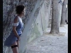 Outdoor, Outdoor fully clothed wet, Xhamster.com