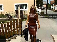 Leather, Woman leather coat, Xhamster.com