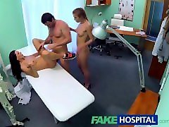 Couple, Nurse, Threesome, Suprised when friend joins couple, Pornhub.com