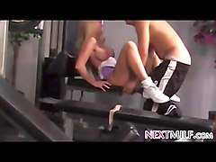 Milf, Gym, Milf fucks with a son, Fapli.com
