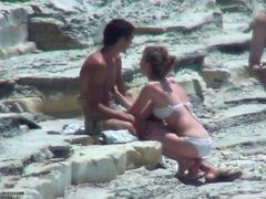 Couple, Beach, Shy, Big tit beach, Xhamster.com