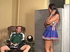 Ebony, Cheerleader, Creampie, Anal cheerleaders, Xhamster.com