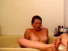 Bath, Bathroom, Wife, Mom and son in shower together, Mylust.com