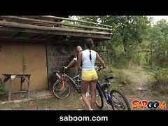 Outdoor, Muscle anal pool outdoor, Gotporn.com