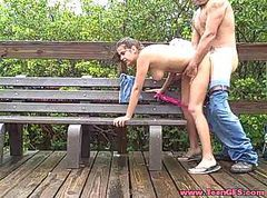 Couple, Caught, Mature couple e girl, Tube8.com