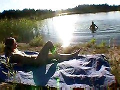 Outdoor, Tied outdoors, Tube8.com