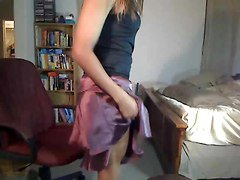 Ebony, Crossdresser, Dress, Leather dress, Xhamster.com