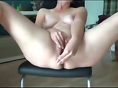 Housewife, Wife, Orgasm, Solo orgasm chair, Pornoxo.com