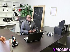 Black, Milf, Blonde guy with big cock fucking black whore, Nuvid.com
