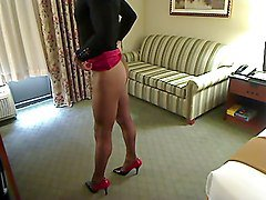 Crossdresser, Dress, Dressing room, Xhamster.com
