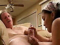 Asian, Teen, Old Man, Old man pumps young innocent girl, Tube8.com
