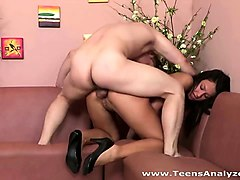 Teen, Her first time trying a girl, Nuvid.com