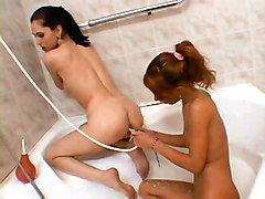 Game, Shower, Horny game with mom and daughter, Redtube.com