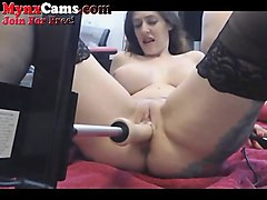 Squirt, Machine, Blonde fucking machine, Nuvid.com