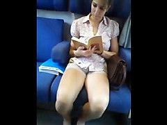 Teen, Train, Sexy legs on train, Xhamster.com