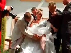 Gangbang, Bride, Wedding, Milf young boy wedding, Xhamster.com