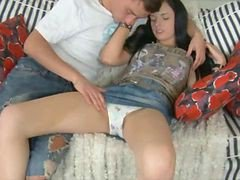 Teen, Creampie, Couple fucks teen mandy main, Gotporn.com