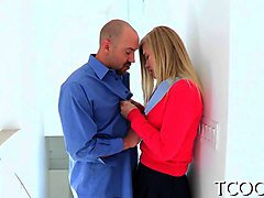 Blonde, Sexy blonde teacher with huge tits, Gotporn.com