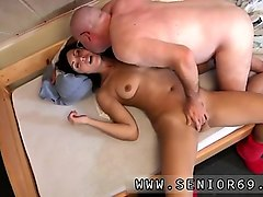 Hairy, Young girl strap on old man, Nuvid.com