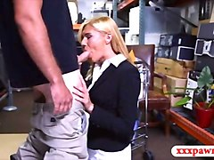 Blonde, Money, Milf, Shemale fucks girl in bar, Fapli.com