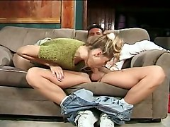 Blonde, Housewife, Wife, Beautiful girl spanked by her dad and friend, Mylust.com