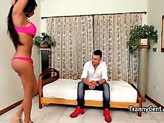 Gangbang, Latina, Shemale, Shemal punished other shemal in office, Nuvid.com