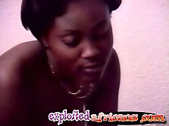 African, Interracial, Threesome, Girl gets fucked hard, Nuvid.com