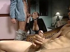 Threesome, Big Cock, Old man with big cock, Txxx.com