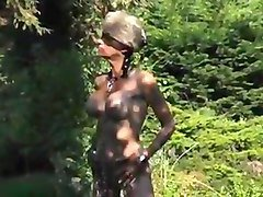Boots, Fetish, Slave, Bdsm tranny makes slave drink her piss, Txxx.com