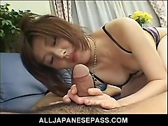 Asian, Lingerie, Milf, Busty milf in glasses fucks stud, Sunporno.com