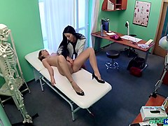 Doctor, Russian, Young blond beautie in boots takes, Txxx.com