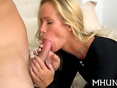 Blonde, Milf, Milf mom fuck son when dad is not hom, Gotporn.com