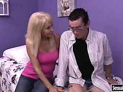 Bus, Blonde, Mature woman vs young, Nuvid.com