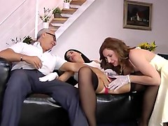 Wife, Cute, Old Man, Husband gets his ass fucked with strapon, Txxx.com