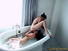 Bath, Japanese wife fucked by stranger in bath, Nuvid.com