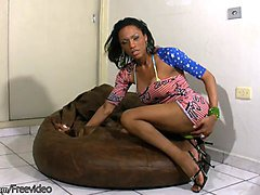Ebony, Babe, Masturbation, Big booty fat woman, Sunporno.com